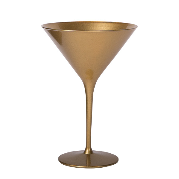 Olympic Cocktail Glass Plain Gold