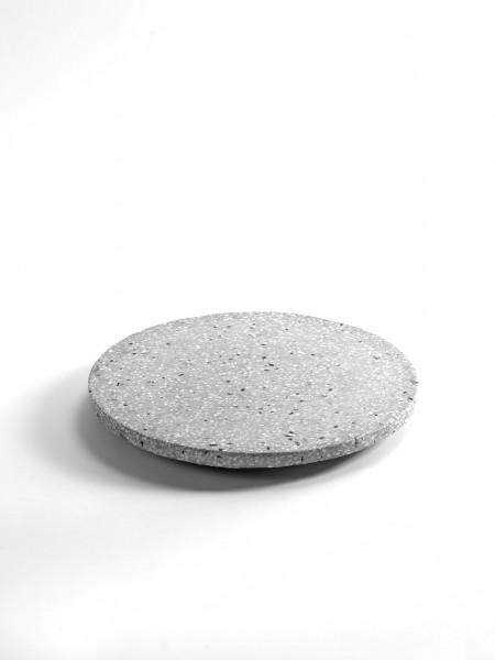 "Serving Tray & Presentation Platter - Presentation Platter ""Grey Terrazzo"""