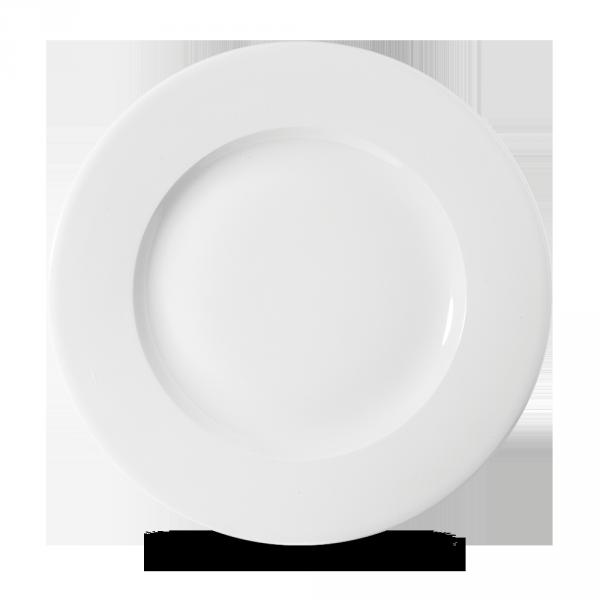 """White Profile Wide Rim Plate 10 3/4"""" 12/box"""