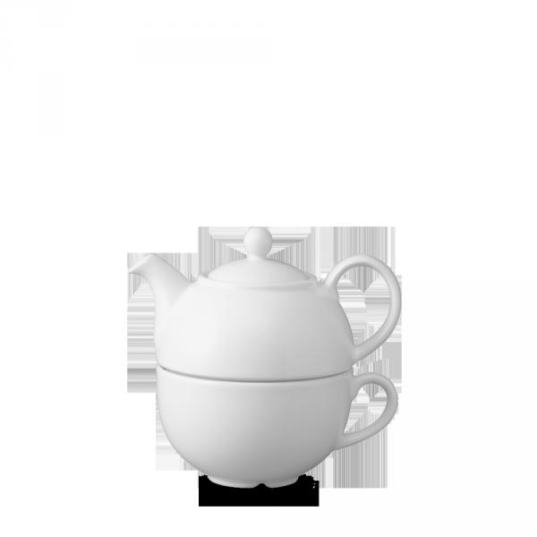 White Cafe One Cup Teapot 13Oz Box 4