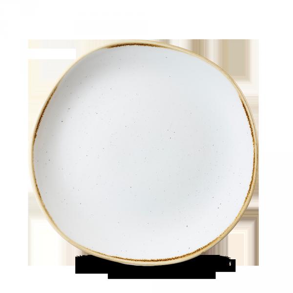 "Stonecast Barley White Round Trace Plate 8 1/4"" 12/box"