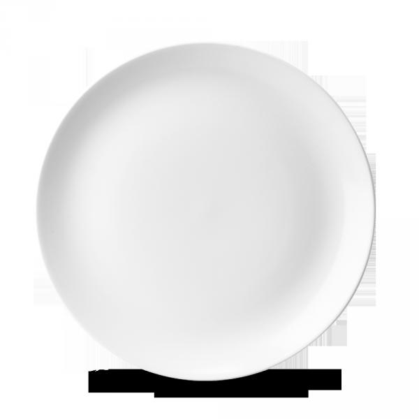 """White Evolve Coupe Plate 10.25"""" 12/box"""