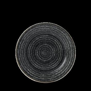 "Studio Prints Charcoal Black Profile Plate 6 5/8"" Box 12"