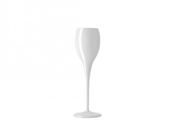 Flute prive beach white glass 130 ml