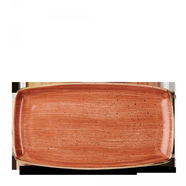 "Stonecast Orange Oblong Plate 13 1/2"" 6/box"