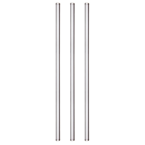 Straight glass straw 23 cm