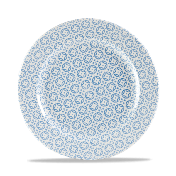 "Moresque Blue Profile Plate 10.875"" 12/box"