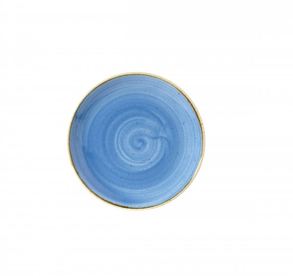 "Stonecast Cornflower Blue Coupe Plate 6.5"" Box 12"