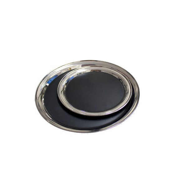 Metal Tray with Vinyl stainless steel Ø 25,4 cm