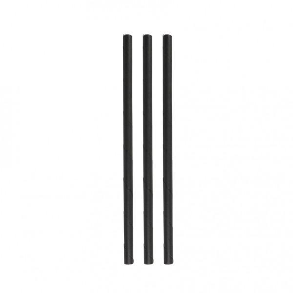 Paper straws eco black 6*150 mm