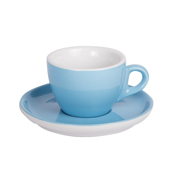 Coffee cup with saucer 160 ml blue 544c