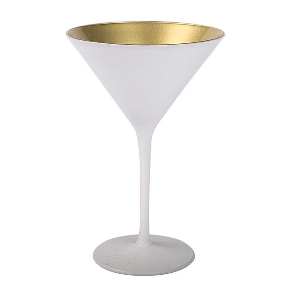 Olympic Cocktailglass matt-white Goud 240 ml 6/box
