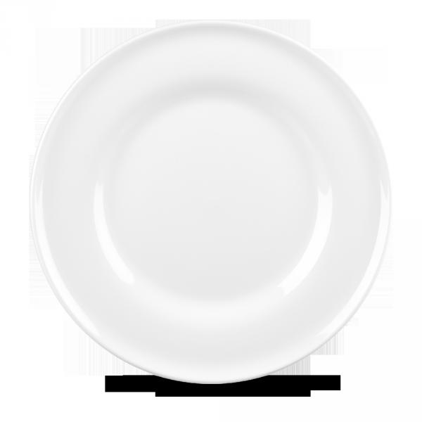 """White Contempo Plate 11"""" 12/box"""
