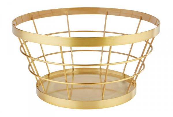 Food & Fruit basket gold brushed