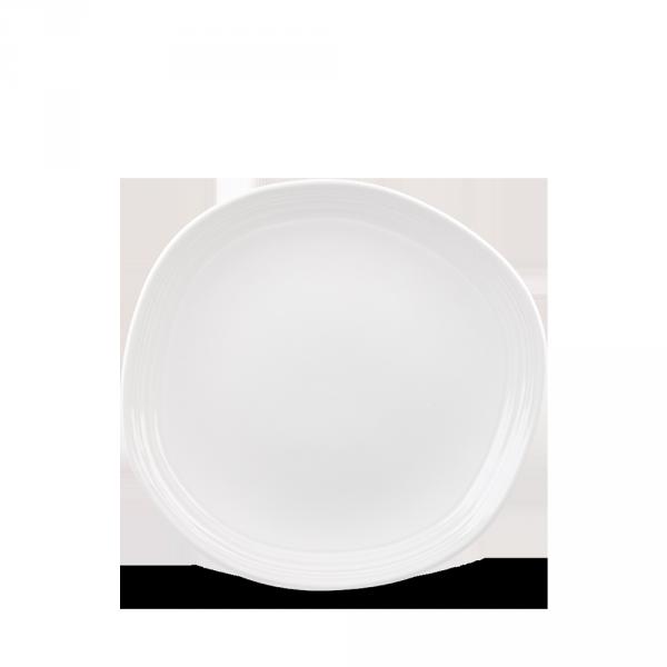 "White Round Discover Plate 7 1/4"" 12/box"