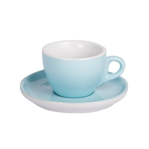 Coffee cup with saucer 160 ml blue 628c
