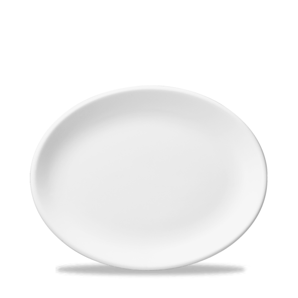 """White Oval Plate 12"""" Box 12"""