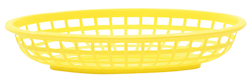 Basket Oval Yellow 12/box