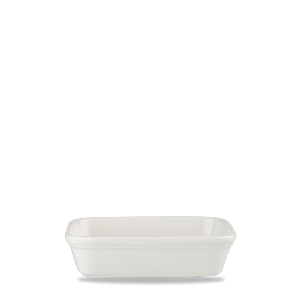 "White Cookware Shallow Rectangular Dish 6.13"" 12/box"