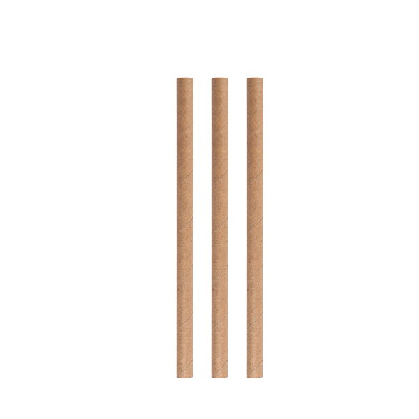Paper straws eco beige 8*150 mm