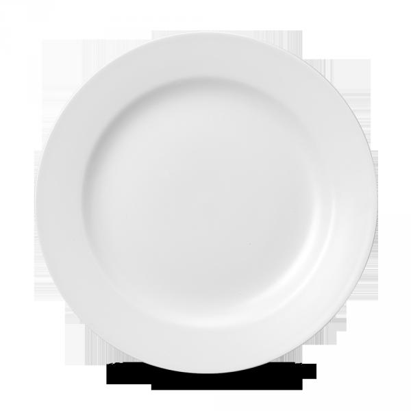 "White Classic Plate 10.62"" 12/box"