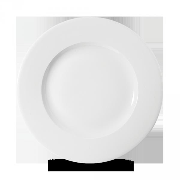 """White Profile Wide Rim Plate 9 1/4"""" 12/box"""