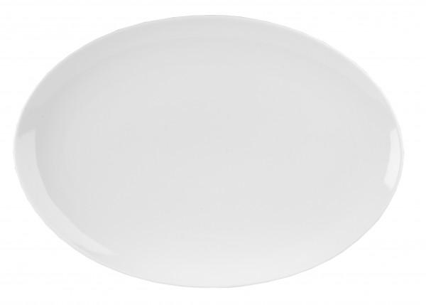Menu Porcelain Coupe Oval Plate 37Cm 6/box