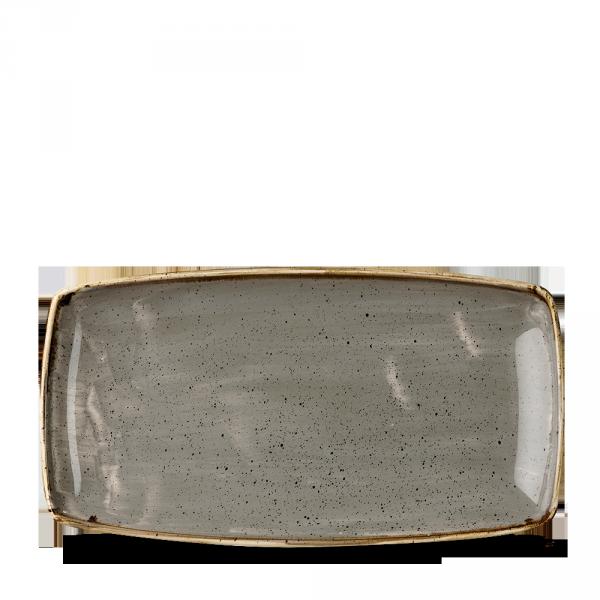 "Stonecast Grey Oblong Plate 13 1/2"" 6/box"