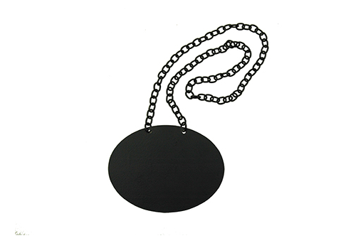 Chalkboard Necklace for glass beverage dispensers