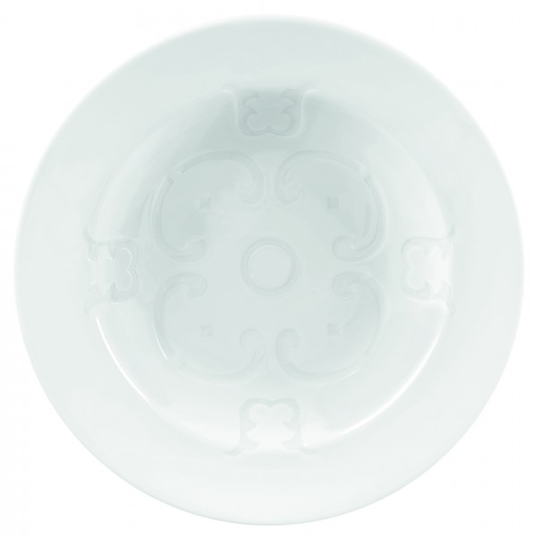 Deep plate with pattern in the middle