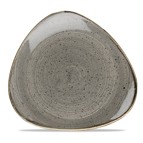 "Stonecast Grey Lotus Plate 10"" 12/box"