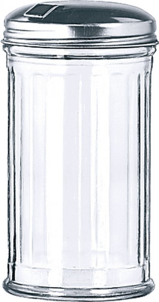 Fluted Glass Shaker with Flap Top