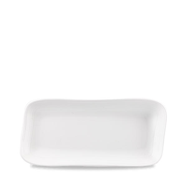 """White Discover Oblong Plate 13 1/4X 6 1/8"""" 6/box"""