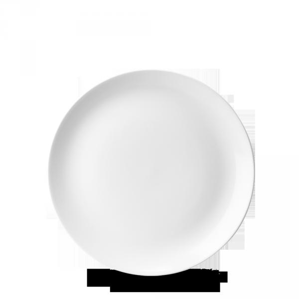 """White Evolve Coupe Plate 6.5"""" 12/box"""