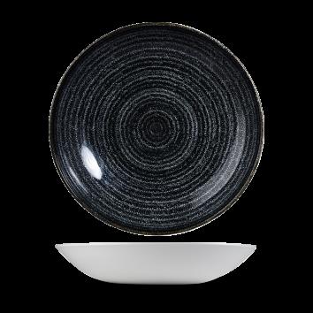 "Studio Prints Charcoal Black Evolve Coupe Bowl 9.75"" 12/box"