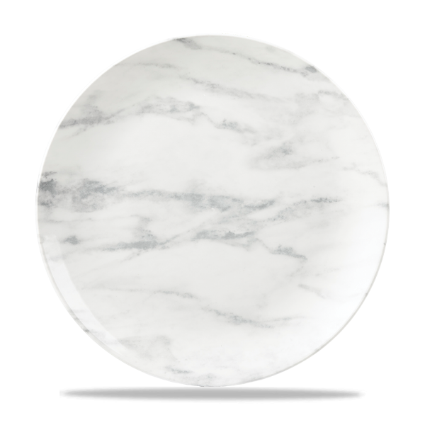 """Marble Grey Coupe Plate 10 1/4"""" 6/box"""