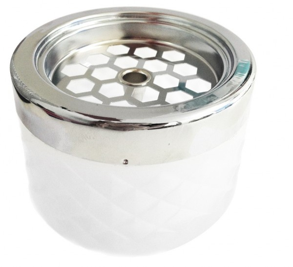 Windproof Ashtray frosted with chrome cap