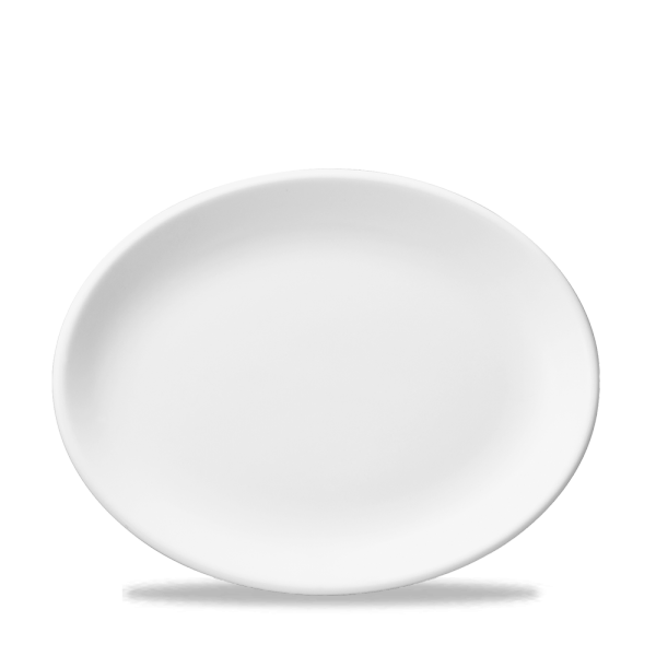"""White Oval Plate 13.25"""" Box 12"""