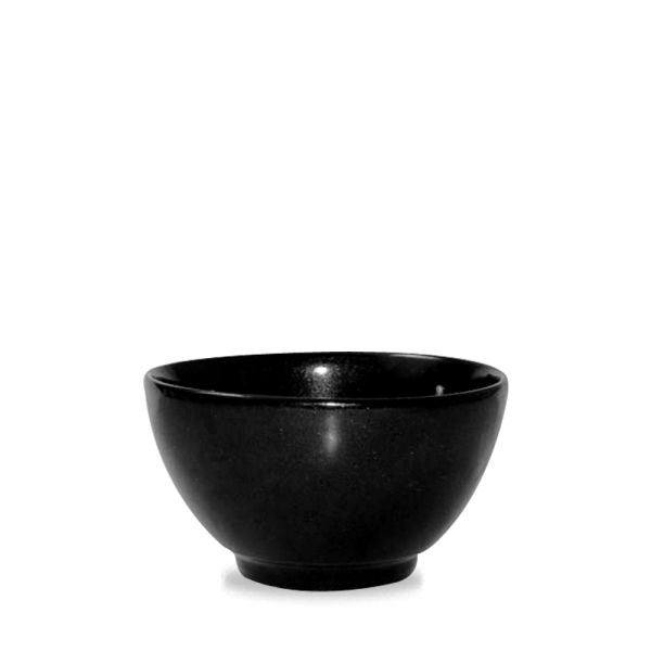 Metallic Black Spark Bowl 19 Oz