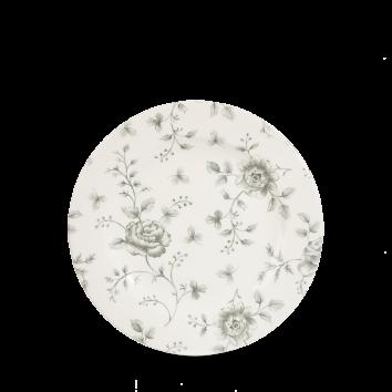 """Rose Chintz Grey Profile Plate 6 5/8"""" 6/box"""