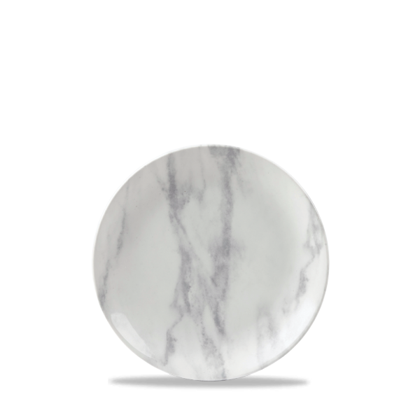 """Marble Grey Coupe Plate 6 1/2"""" Box 6"""
