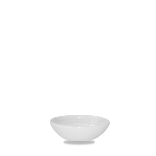 White Ripple Dip Dish 5Oz 12/box