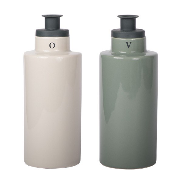 Oil & Vinegar with silicone pourer beige/green