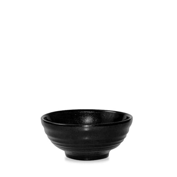 Metallic Black Ripple Snack Bowl 10Oz Box 12