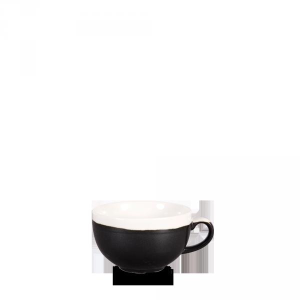 Monochrome Onyx Black Cappuccino Cup 8Oz 12/box