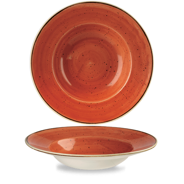 "Stonecast Orange Profile Wide Rim Bowl Large 10.90"" Box 12"