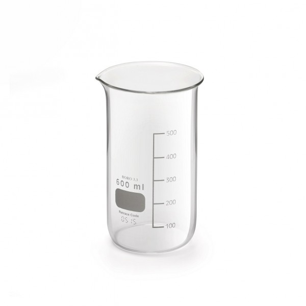 LAB Beaker 600 ml 8/box