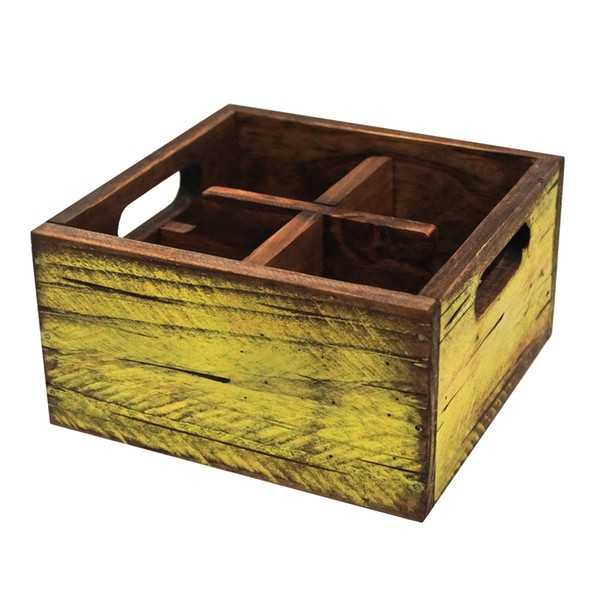 APS small wooden box, aged green pistachio