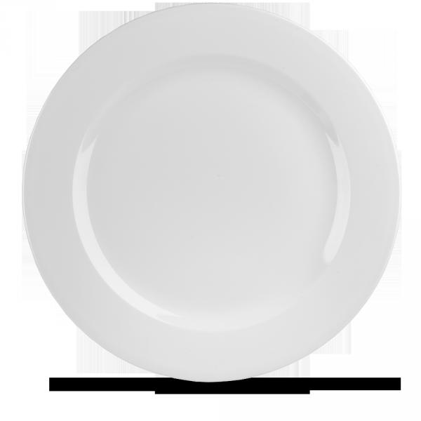 """White Profile Plate 13 1/8"""" 12/box"""