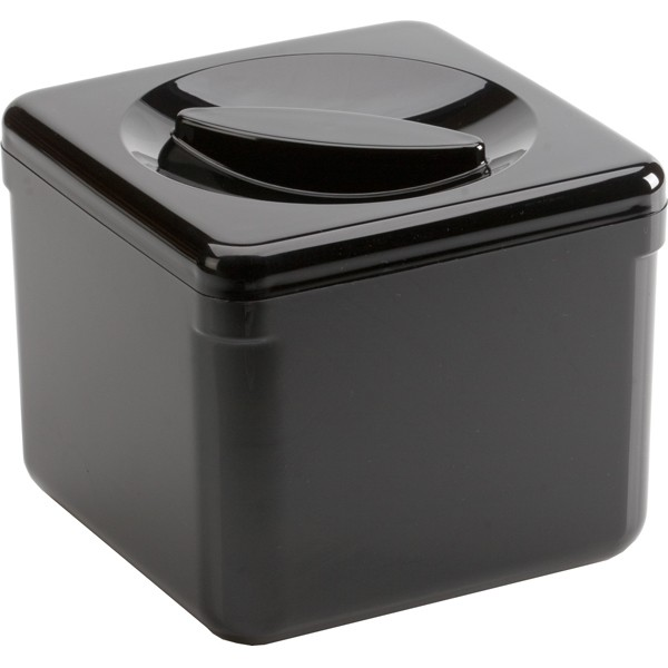 Icebox square black with drain inlet 3,4 L